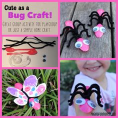 Cool Bug Crafts!   Easy to make using some plastic spoons and pipecleaners!