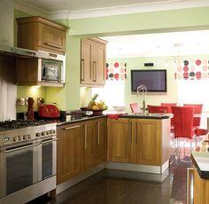 Retro Kitchen on Green Vintage Kitchen Design 10 Jpg