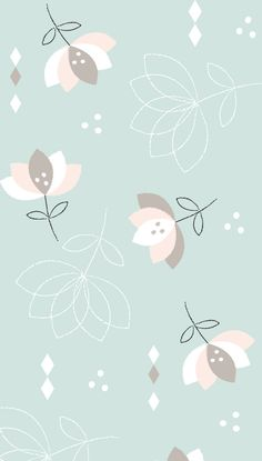 Soft Flowers Pastel iPhone Wallpaper @PanPins
