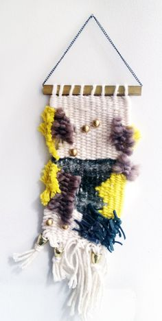 Hand Woven Mini Loom Wall Hanging Loom in by ARichDayForYouAndMe, $30.00