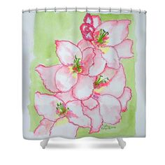 Gladiolus Shower Curtain by Cathy Rodgers