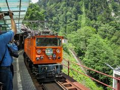 trains~Kurobe Gorge Railway ( Toyama Prefecture)-crosses the Atobiki Bridge and offers expansive views of the Kurobe River and valley. It's so lush and green, it's like going bush-walking without having to leave the train.
