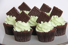 Annettes Kager: After eight Cupcakes