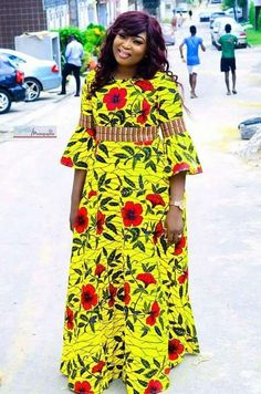 Beautiful Long Ankara Gowns that is in Vogue this remaining part of 2018 Best African Dresses, African Fashion Ankara, African Traditional Dresses, African Print Dresses, African Print Fashion, African Attire, African Wear, African Women, Ankara Gown Styles