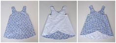 Pinafore Dress Cosotela. Patrón disponible en talla 2/3 años. Paso a paso para coserlo.