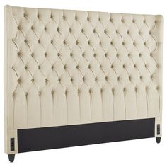 Audrey II Upholstered Flax Wingback King Headboard | Pier 1 Imports