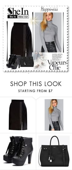"""""""Shein contest"""" by lunalana585 ❤ liked on Polyvore featuring Brooks Brothers, Yves Saint Laurent, Anja and York Wallcoverings"""