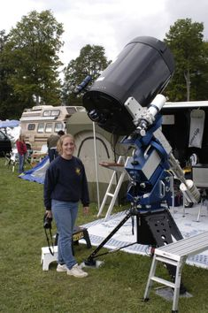 A Meade 20 inch reflector, mounted on a Meade robotic mount. This is movable scope, if you own a semi- trailer and crane. Milky Way Photography, Space Photography, Diy Telescope, Astronomical Telescope, One Step Beyond, Astronomy Pictures, Cosmos, Space And Astronomy, Space Exploration
