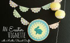 An Easter Vignette from @anightowlblog made with Martha Stewart Crafts #12monthsofmartha #easter