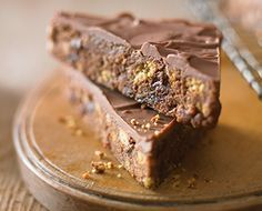 Chocolate Tiffin Triangle #RePin by AT Social Media Marketing - Pinterest Marketing Specialists ATSocialMedia.co.uk