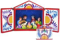 I have a Mini Nativity like this made in Peru. It's one of my favourites!