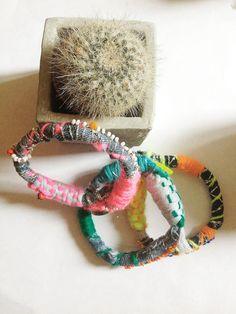 Neon Pink Mechant Grigri bracelet. €30.00, via Etsy.