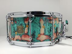 Beautiful. Outlaw Drums stressed turquoise /maple finish