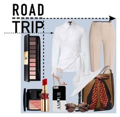 """""""My Summer Road Trip With Style !"""" by oursunnycdays ❤ liked on Polyvore featuring Emilio Pucci, Michael Kors, Eric Javits, Yves Saint Laurent, ESCADA, Christian Dior, D'Blanc, Dsquared2 and roadtrip"""