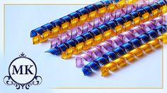 Спиральки из лент. Канзаши. МК./DIY. Spiral ribbon. Kanzashi.