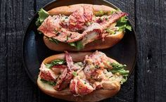 Lining the toasted, buttered bun with lettuce might seem controversial in this lobster roll recipe, but it provides both crunch and a waterproof barrier that keeps the bread from sogging out. Lobster Roll Recipes, Best Lobster Roll, Live Lobster, Lobster Rolls, Lobster Party, Celery Recipes, Fish Recipes, Seafood Recipes, Cooking Recipes