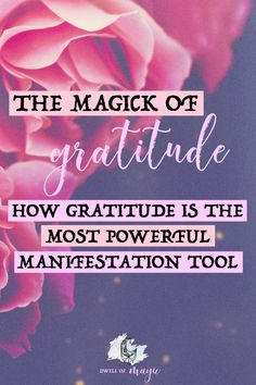 Gratitude is the most powerful way to manifest your dreams - here's why. #manifesting #lawofattractiontips #gratitude #magick