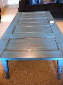 Old Farm Door Coffee Table
