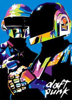 Daft Punk Popart by Gumilar Pratama Adiatna Pop Art Posters, Poster Prints, Daft Punk Poster, Punk Art, Electronic Music, Music Artists, Famous Artists, Character Design, Nest Logo