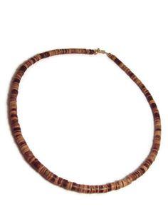Coconut Shell Mens Necklace by SplendidStones on Etsy, $20.00