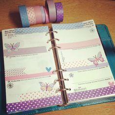 Week 22 in my filofax is pretty pastels and butterflies
