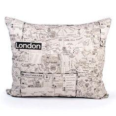 London Map Cushion   Dunelm