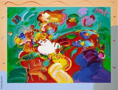 """""""Flower Lady"""" Peter Max  - Park West Gallery"""