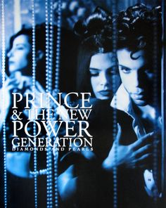Prince | 1991 Diamonds & Pearls Blue Poster Photo (Not a scan) Restored by Modernaire 2015