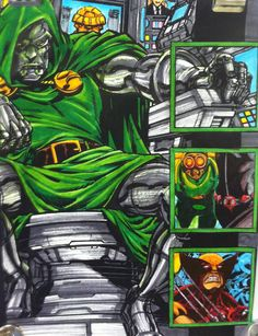 Marker demo for class Markers, My Arts, Comic Books, Comics, Cover, Projects, How To Make, Sharpies, Comic Strips
