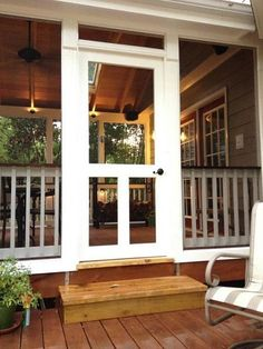 Luxury Screened In Porch Doors Home Porch, House With Porch, Outdoor Rooms, Outdoor Living, Outdoor Patios, Outdoor Kitchens, Br House, Building A Porch, Rico Design