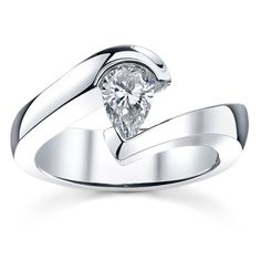 Tension Engagement Ring Setting by Sareen Jewelry TSLA071W