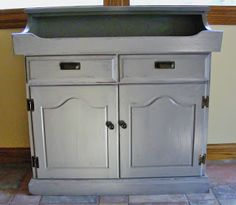 This is my dry sink makeover- @creativemessmom.blogspot.com