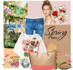 """""""spring has sprung"""" by pinkelephanthotel ❤ liked on Polyvore"""