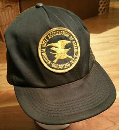 Vintage NRA National Rifle Association of America 1871 SNAPBACK CAP Trucker  Hat  Trucker Snapback Cap 4aaa5a019534