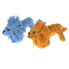 Cute Chewing Toys for Dogs Cats Cotton Knot Rope Realistic Color Mini Lion Puppy Pet Dog Toys Training Toy Drop Shipping