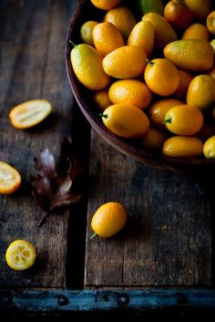 Kumquats Tartelette: Poached Kumquat & Almond Cakes recipe is in the link, looks delish. Fruit And Veg, Fruits And Veggies, Fresh Fruit, Food Photography Styling, Food Styling, Art Photography, Cuisine Diverse, Think Food, Exotic Fruit