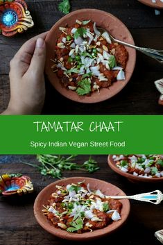 Tamatar chaat is a popular street food from Varanasi.