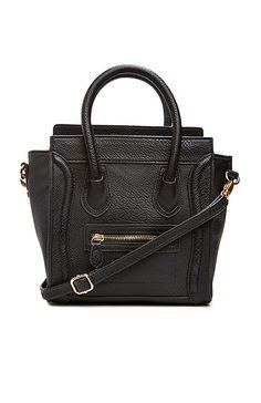 DAILYLOOK Mini Structured Handbag in Black | DAILYLOOK