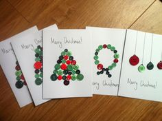 button craft christmas cards