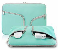 "TEAL Neoprene Soft Sleeve Case for 12"" Laptop MacBook Air 11.6"" Chromebook 11"""