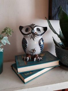 Your Location, See Picture, Bookends, I Shop, Owl, Mexican, Pottery, Hand Painted, Signs