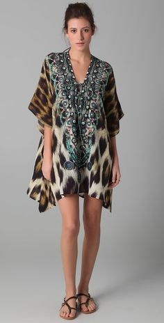 Sphinx Short Lace up Caftan