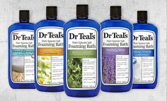 Dr Teal's Foaming Bath transforms an ordinary bath into a relaxing spa by combining Pure Epsom Salt (Magnesium Sulfate U.S.P) and luxurious essential oils to soothe the senses, relax tense muscles and provide relief from stress.  Directions: Pour a generous amount of Dr Teal's Foaming Bath under warm, running water for a relaxing bubble bath experience.  Aromatherapeutic Fragrances Available: Lavender, Eucalyptus & Spearmint, Chamomile, Rosemary Mint, Milk & Honey and Ginger & Clay