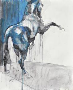 """Saatchi Art Artist Benedicte Gele; Drawing, """"Equine Nude 11t"""" #art"""