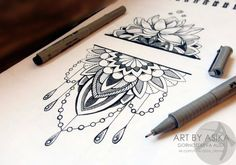 tattoo sketch. dotwork, mandala by AsikaArt