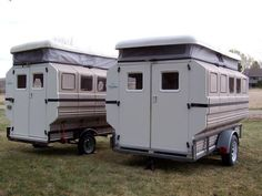 A lightweight camper that you can assemble to meet your specific needs and pull with a standard utility trailer.