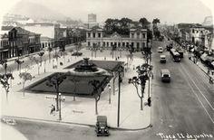 A antiga Praça Onze em foto de Augusto Malta