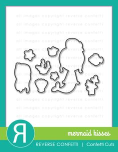 MERMAID KISSES Confetti Cuts. Coordinates with Mermaid Kisses stamp set. June 2016