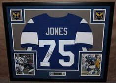 "Deacon Jones Signed Rams 35"" x 43"" Custom Framed Jersey Inscribed ""HOF 80"" (JSA COA)"