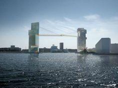 Ciclovia a mais de 200 metros de altura une torres em Copenhague